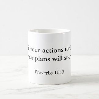 """""""Commit your actions to the Lord, and your plan... Mugs"""
