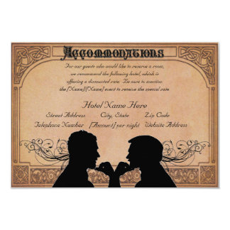 Commitment Ceremony Custom Accommodations Cards
