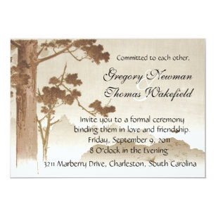 Commitment Ceremony Invitations Zazzle
