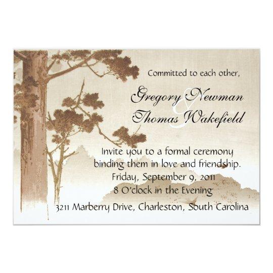 Commitment Ceremony Invitation Zazzle Com