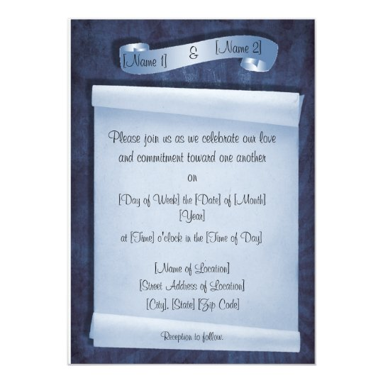 Commitment Ceremony Invitations Zazzle Com