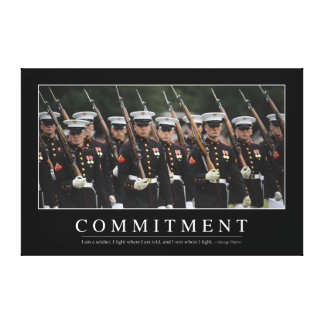 Commitment: Inspirational Quote Canvas Print