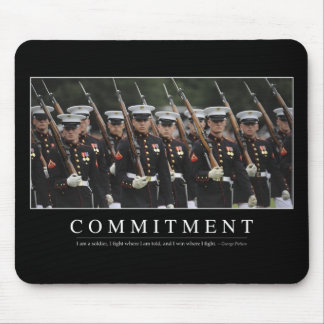 Commitment: Inspirational Quote Mouse Pad