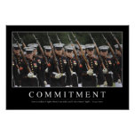 Commitment: Inspirational Quote Poster