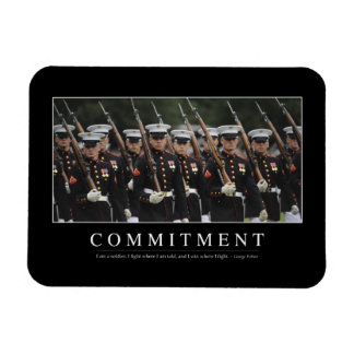 Commitment: Inspirational Quote Rectangular Photo Magnet