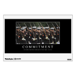 Commitment: Inspirational Quote Wall Decal