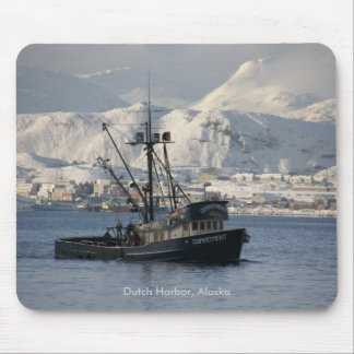 Commitment, Longliner in Dutch Harbor, Alaska Mouse Pad