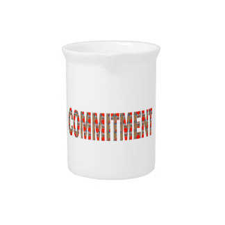 COMMITMENT Promise Oath Responsibility LOWPRICE GI Beverage Pitcher