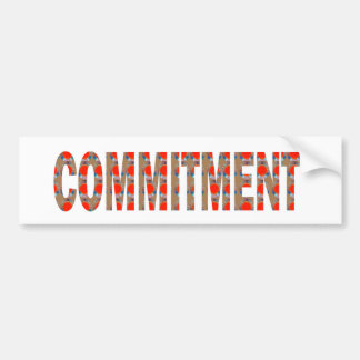 COMMITMENT Promise Oath Responsibility LOWPRICE GI Bumper Sticker