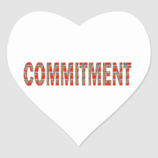COMMITMENT Promise Oath Responsibility LOWPRICE GI Heart Sticker