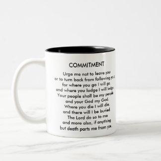 COMMITMENT Two-Tone COFFEE MUG