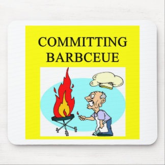 committing barbecue joke mouse pad