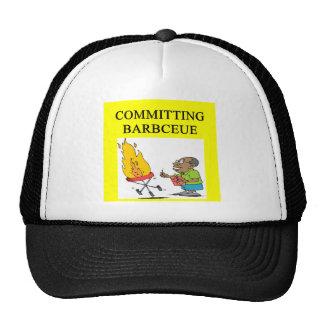 committing barbecue joke trucker hat
