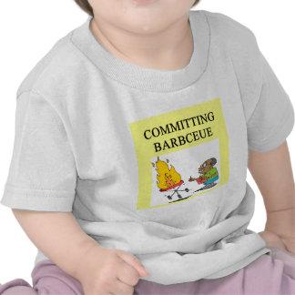 committing barbecue joke t-shirts