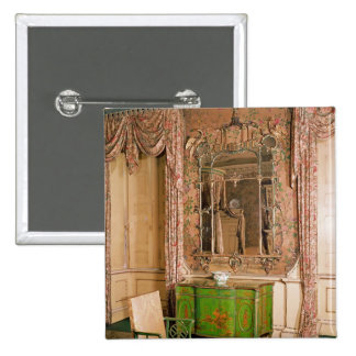 Commode and chair in the state bedchamber pinback button