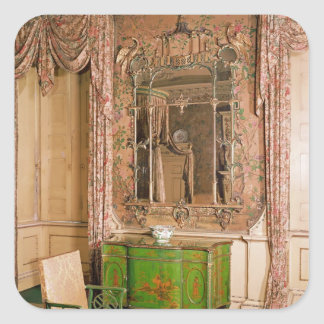 Commode and chair in the state bedchamber square sticker