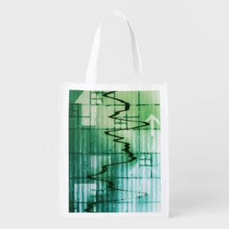 Commodities Trading and Price Analysis News Art Reusable Grocery Bag