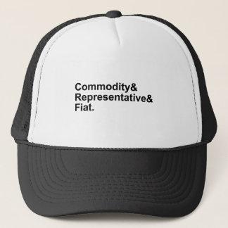 Commodity Representative Fiat   Money Types Trucker Hat
