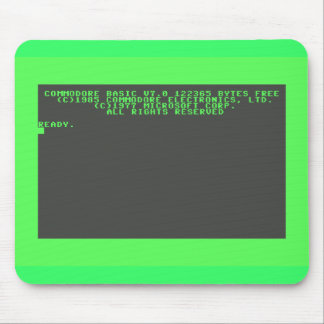 Commodore 128 Startup Screen Mouse Pad