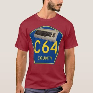 C64 County Funny 8 Bit Gamer's T-shirt
