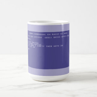 Commodore 64 Drink cofee basic program screen Classic White Coffee Mug