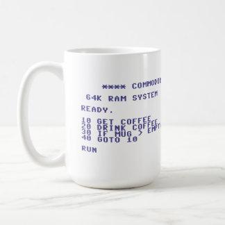 Commodore 64 Drink Coffee Basic Program Classic White Coffee Mug