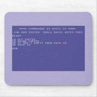 Commodore 64 Drink Coffee Basic Program Mouse Pad