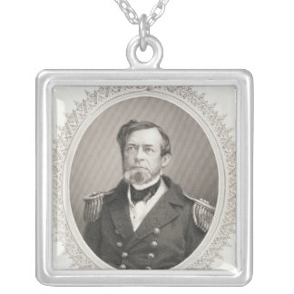 Commodore Andrew Hull Foote Silver Plated Necklace