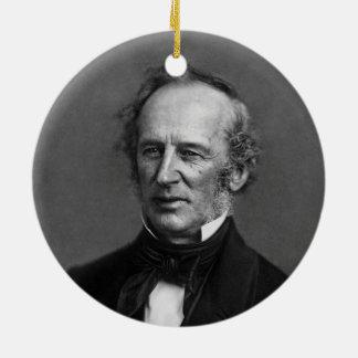 Commodore Cornelius Vanderbilt Portrait circa 1850 Double-Sided Ceramic Round Christmas Ornament