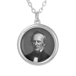 Commodore Cornelius Vanderbilt Portrait circa 1850 Silver Plated Necklace