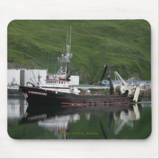 Commodore, Fishing Trawler in Dutch Harbor, AK Mouse Pads