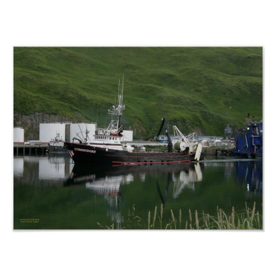 Commodore, Fishing Trawler in Dutch Harbor, AK Poster
