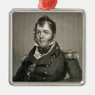 Commodore Oliver Hazard Perry (1785-1819), engrave Metal Ornament