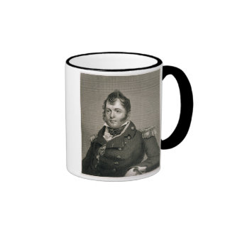 Commodore Oliver Hazard Perry (1785-1819), engrave Ringer Coffee Mug
