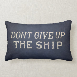 Commodore Perry Dont Give Up The Ship Lumbar Pillow