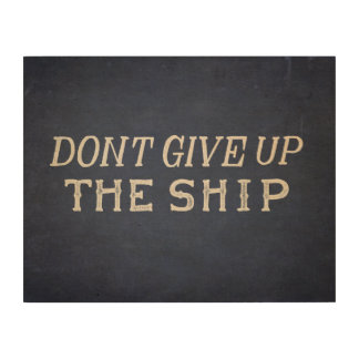 Commodore Perry Dont Give Up The Ship Wood Prints