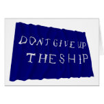 Commodore Perry's Waving Flag Greeting Card