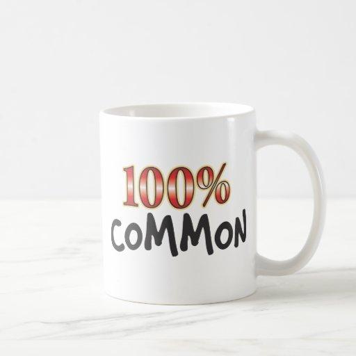 Common 100 Percent Classic White Coffee Mug