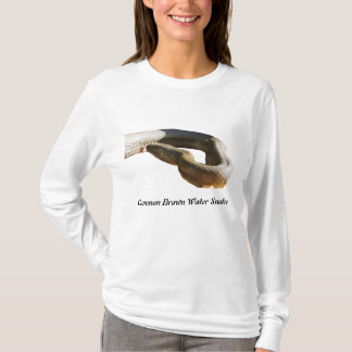 Common Brown Water Snake Ladies Long Sleeve T-Shirt