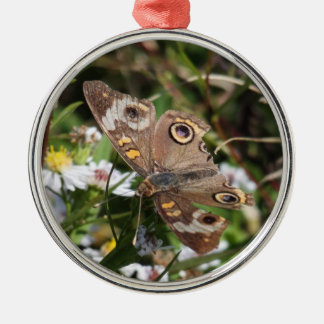 Common Buckeye Metal Ornament