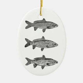 Common Carp Varieties (scaled, mirror, leather) Ceramic Ornament