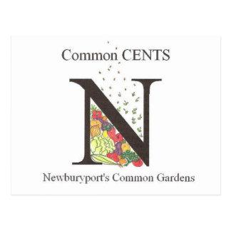 Common Cents Garden Postcard
