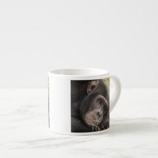 Common Chimpanzee posing resting Espresso Cup