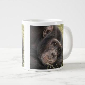 Common Chimpanzee posing resting Giant Coffee Mug