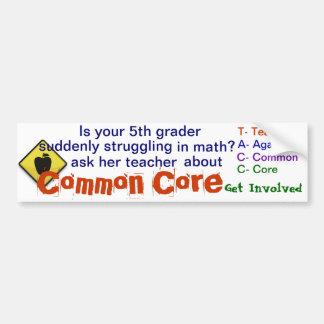 Common Core Bumper Sticker Car Bumper Sticker
