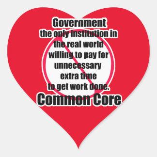 Common core heart sticker