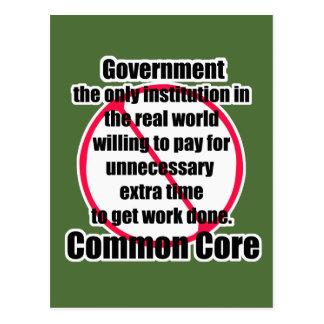 Common core postcard