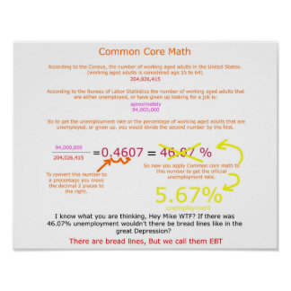 Common Core Unemployment Poster