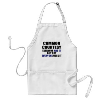 Common Courtesy Adult Apron