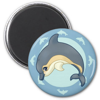 Common dolphin 2 inch round magnet